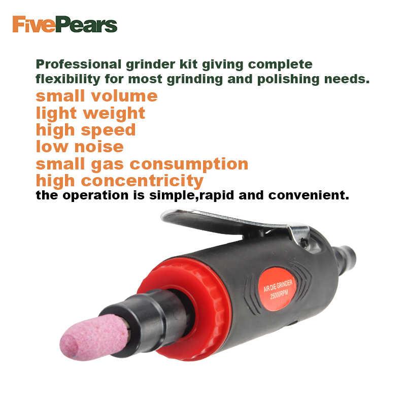 Moedor de ar mini, kit de ferramentas pneumáticas, conjunto de moedor de ar, ferramentas pneumáticas, 25000 rpm, moedor de ar envio do frete