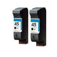 2PK For HP 45 HP45 51645A Cartridges Black Ink Deskjet 6120 9300 1120c 1180c 1220c Photosmart