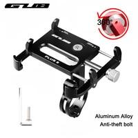 GUB Aluminum Alloy Universal Bicycle Phone Holder Motorcycle MTB Bike Handlebar Mount Stand For 3 5