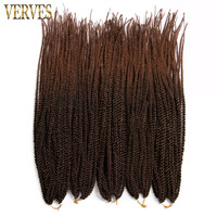 VERVES 6 Pack Ombre Crochet Braids 30strands Pack 18 Small Senegalese Twist Hair Synthetic Braiding Hair