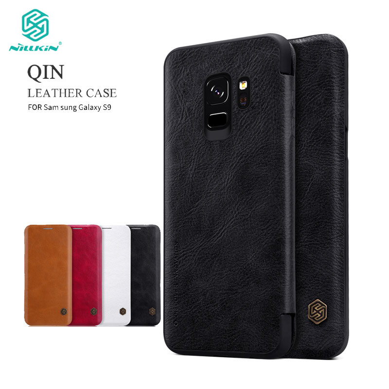 Nillkin Flip Case For Samsung Galaxy S9 5.8 inch / S9 Plus 6.2 inch Qin Series PU Leather Cover sFor Samsung S9 Case Cover
