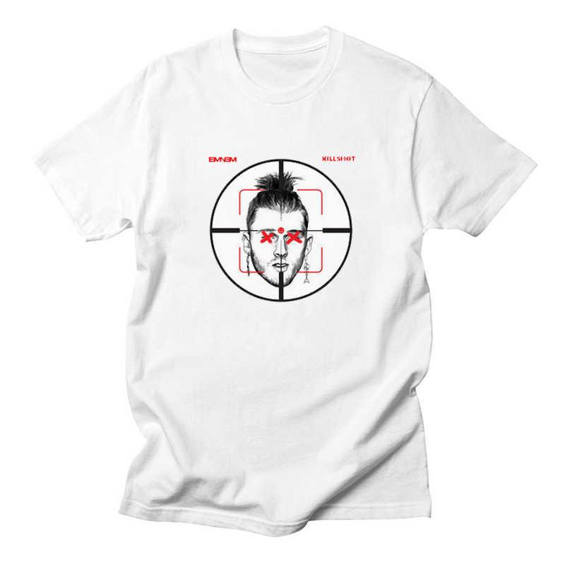 8cad3432 ... Men's T Shirt Zombie Panda Eminem Machine Gun Kelly Diss Track Killshot  Hardcore Hip Hop Shirt ...