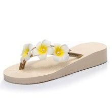 womens Flip Flops Summer 2018 sandals flower  Slippers Beach shoes heel-height 3cm 7cm HOLIDAY DIY personalized Heel Slippers
