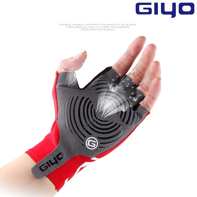 Giyo Breaking Wind Cycling Half Finger Gloves Anti-slip Bicycle Lycra Fabric Mittens MTB Gloves Racing Road Bike Glove 2