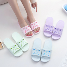 New Slippers Non-slip Couple Bathroom Slippers Female Summer Korean Home Indoor Sandals and Slippers PVC Slippers Woman Shoes animal prints home slippers summer women slippers linen indoor shoes non slip breathable slippers home female cool sandals