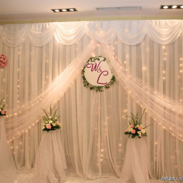 pink color wedding backdrop curtains wedding stage for wedding event