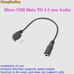 ChengHaoRan para Nokia 8600 V8 Jack Micro USB Macho PARA 3.5 milímetros Adaptador jack de Áudio RCA Cabo Adaptador socketUSB 15 cm
