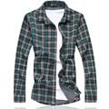 2017 Мужские Клетчатые Рубашки Мужские Рубашки Платья М-5XL 6XL 7XL C640 Camisas Социальной Masculina Camisas Hombre Vestir