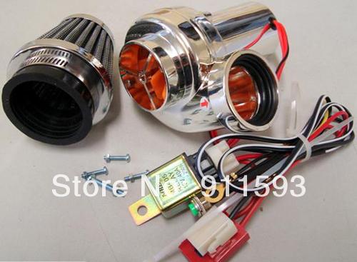 Motocicleta conjunto turbocompresor eléctrico turbocompresor Turbo-500 filtro de aire refires motocicleta piezas