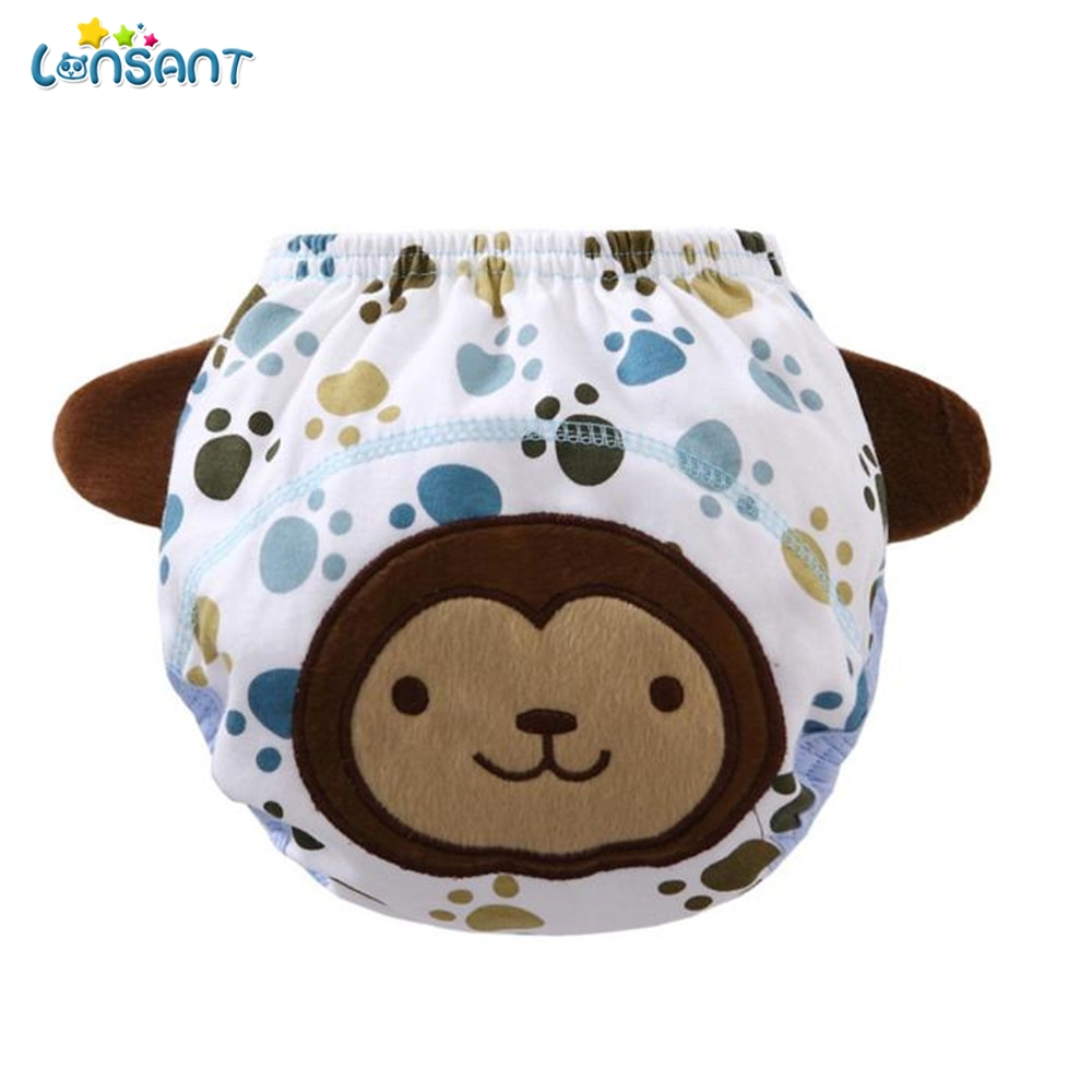 LONSANT Diaper Coth Hot Sale Baby Infant kids Animal Cartoon Ruffle Panties Briefs Diape ...