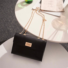 British Fashion Simple Small Square Bag Women's Designer Handbag 2019 High-quality PU Leather Chain Mobile Phone Shoulder bags(China)