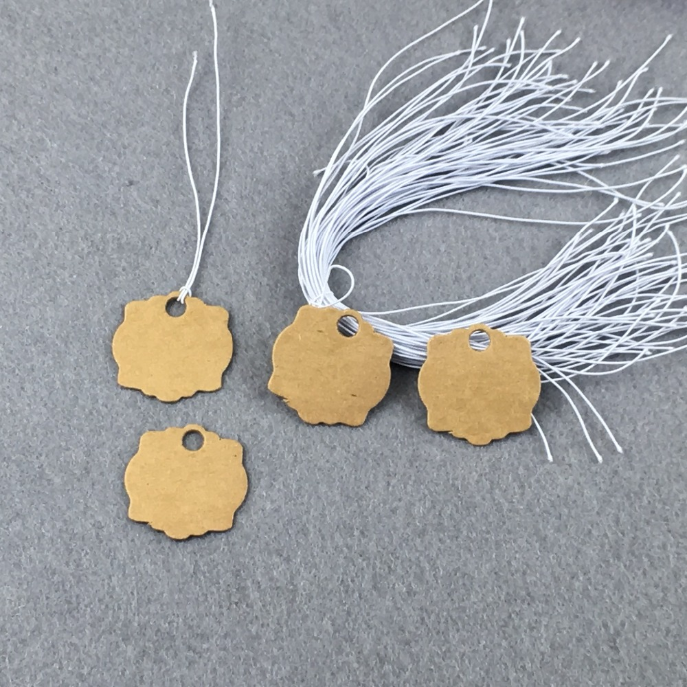 1000pcs Kraft Brown Hang Tags+1000 Rope Strings DIY Handmade Gift ...