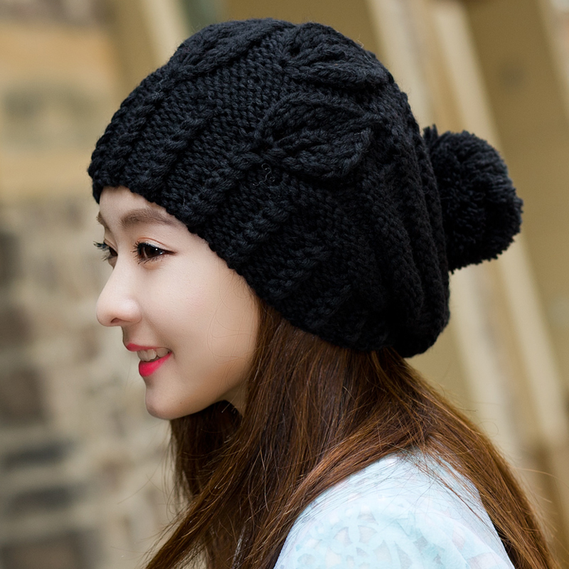 BomHCS Fashion Women's Winter Warm Thick Yarn Knitted Hat Beanie Cute Cat Ear Caps (handmade by Mother) недорого