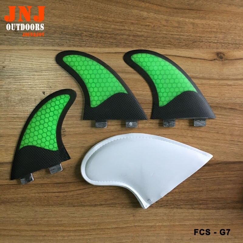 Usine directement qualité moitié carbone planche de surf FCS G7 surf ailettes table fin FCS M7 ailettes