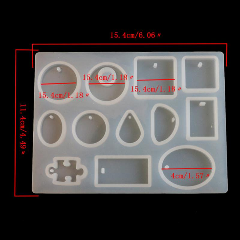Silicone Mold Necklace Pendant Resin Jewelry Making Mould DIY Craft Kitchen Baking Cake Tools