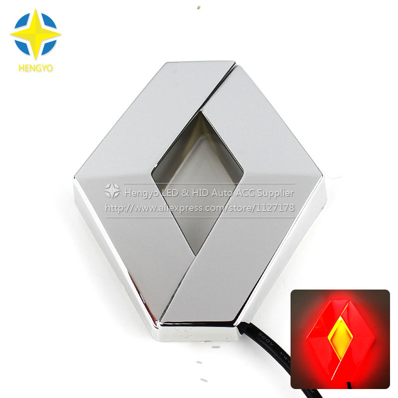 Renault 4D Car Laser Light Car Badge LED Lamp Car Emblem Led Light Auto Led Logo sticker Light ланч бокс black blum box appetit цвет белый зеленый 19 х 19 х 6 см