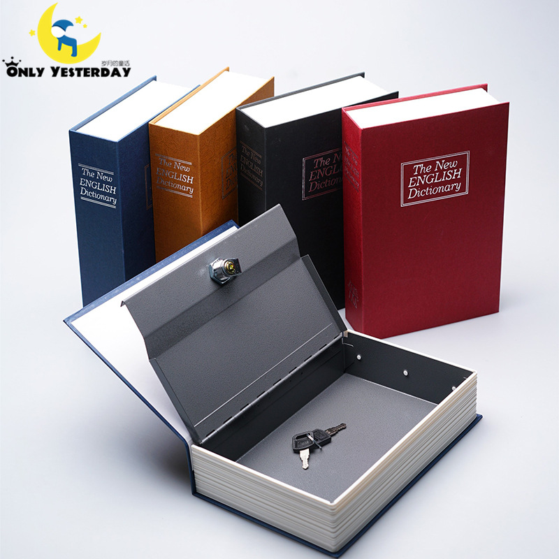 2016 Piggy Bank English Dictionary Book Safe Deposit Money Box Security Jewelry Vault Creative Storage Box
