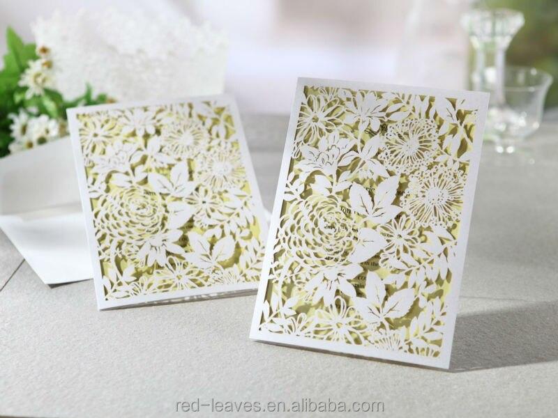 Laser cut classics,fancy paper craft handmade wedding invitations ...
