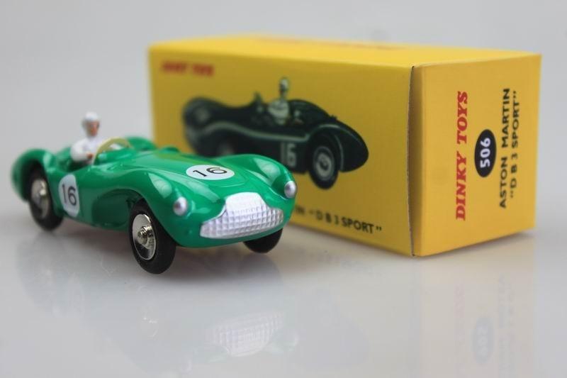 Aston Martin DB3 Sports green DINKY TOYS DeAgostini 1:43 DIECAST MODEL CAR 110