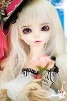 Bjd 1/4 escala lindo garoto bjd/sd bonito doce menina minifee ante figura da resina boneca diy modelo toys. não inclui roupas, sapatos, peruca