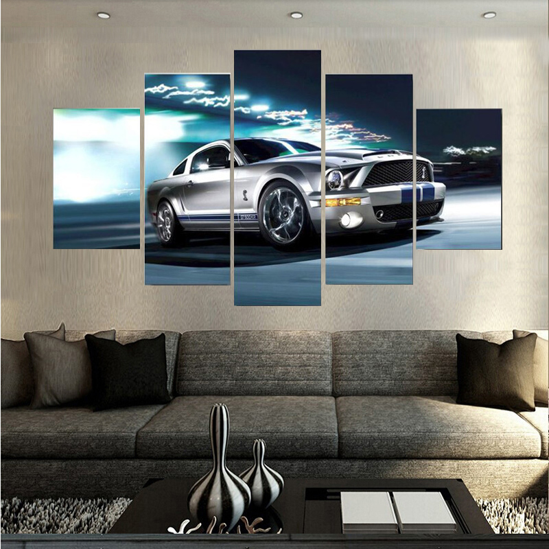 Ford Mustang Painting Canvas