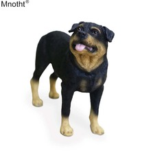 Mnotht Mini Toy 1/6 Rottweiler Dog Simulation Standing Dog Model Resin Anmial Scene Accessory for Action Figure Collection Gift цена и фото