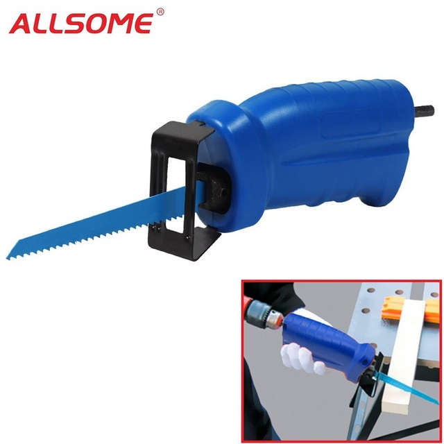 ALLSOME Reciprocating Saw Metal Cutting wood Cutting Tool electric drill attachment with 3 blades Power Tool Accessories HT1569