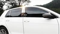 10pcs/20pcs mirror chromed stainless steel car outside window trims strips styling for Volkswagen Golf 7/7.5 MK7 7.5 2014 2017