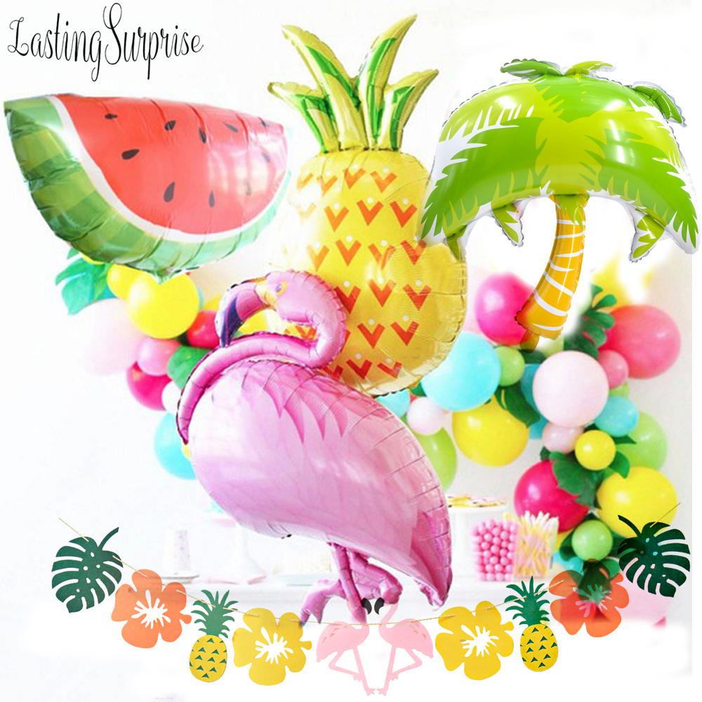 Big Inflatable Flamingo Balloons Party Decorations Supplies Palm Leaves Hawaiian Jungle Decoration Pineapple Balloon Decora-in Party DIY Decorations from Home & Garden on Aliexpress.com | Alibaba Group