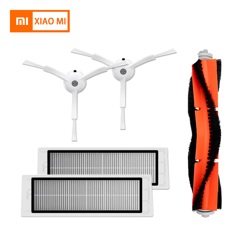 Xiaomi spare parts kits of side brushes+HEPA filter+roller brush+for mop for xiaomi roborock s50 xiaomi robotXiaomi spare parts kits of side brushes+HEPA filter+roller brush+for mop for xiaomi roborock s50 xiaomi robot