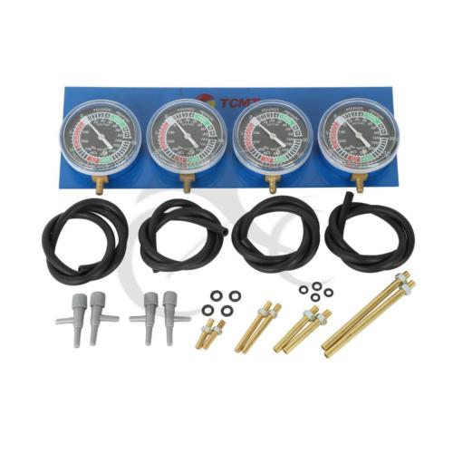 Motorcycle Universal Gauge 4-Carb Carburetor Carburetter Synchronizer Set kit For Honda CB GL1100 1200 1500  KZ550 CB 550 400 eemrke for fiat freemont led angel eye drl daytime running lights halogen h11 55w fog lamp light