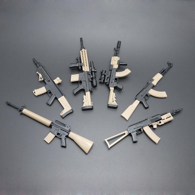 1 Set 1 6 Assembled Guns Ak47 Acr Rifle M16 Ak47 Ak74 Akm