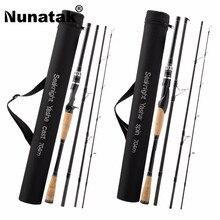 Buy Nunatak YASHA 704 M  Fishing Rod 2.1 M 4 Sections M Power Carbon Fiber Spinning / Fishing Spinning Travel 12-25LB 10-30g