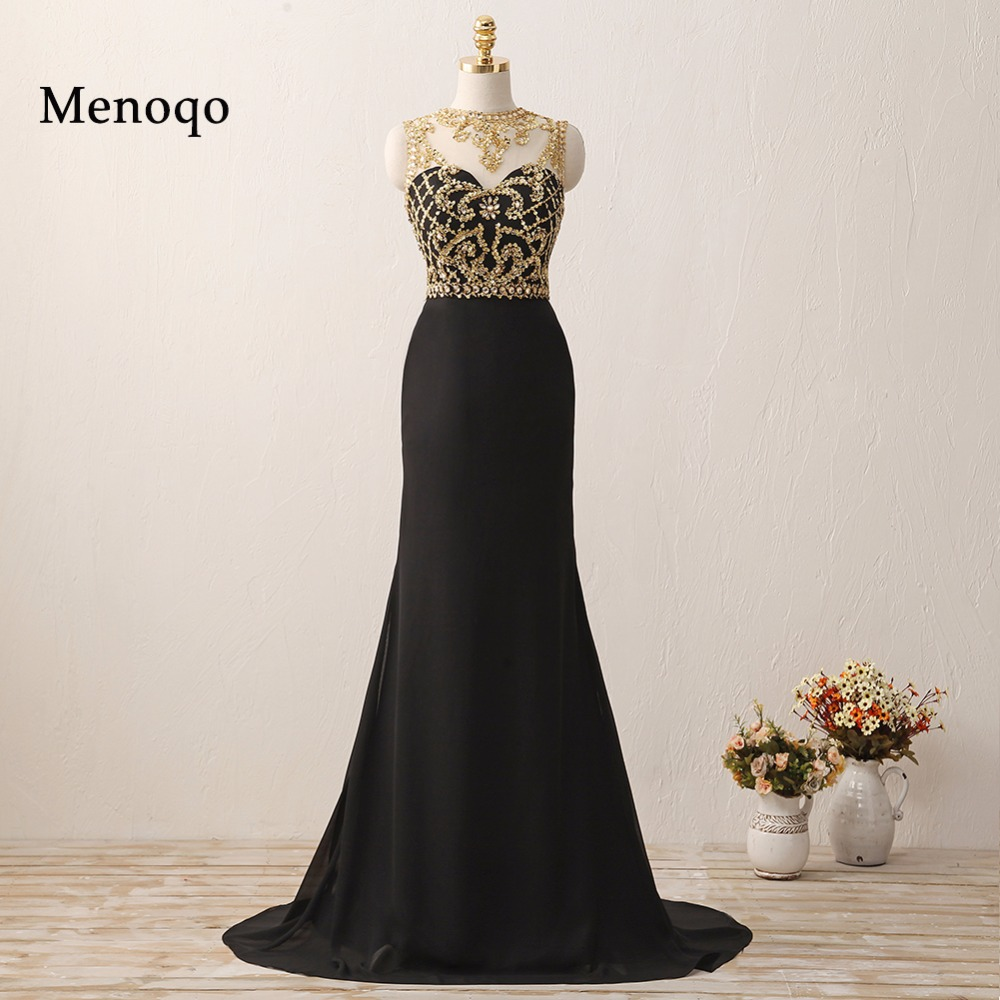 W62737 Gorgeous Mermaid Gold Beaded Black long high quality abendkleider prom dresses