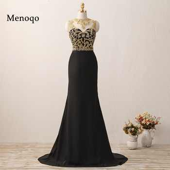 W62737 Gorgeous Mermaid Gold Beaded Black long high quality abendkleider 2018 prom dresses - DISCOUNT ITEM  31% OFF Weddings & Events