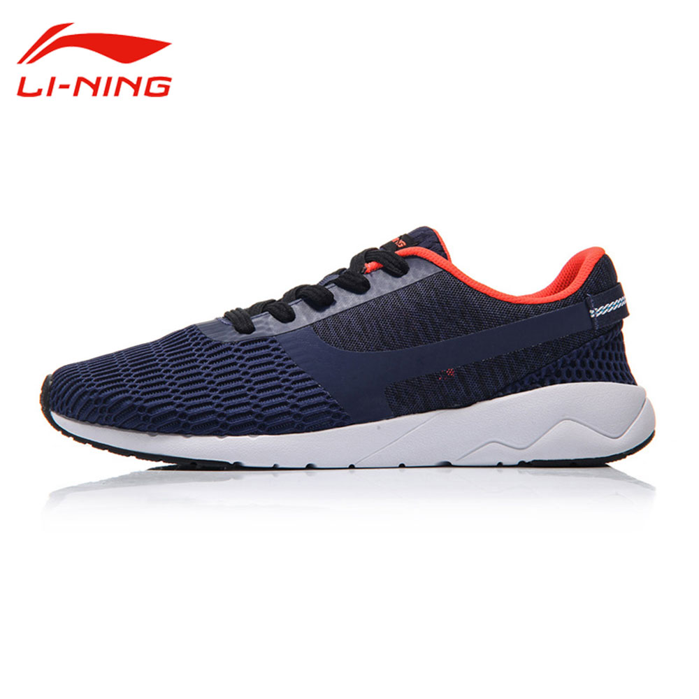 Li Ning Heather Men's Light Anti-skid Classic Shoes Breathable Leisure Sneakers LINING Sports Life Walking Shoes AGCM041 цена