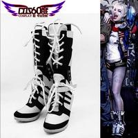 Hot New Custom Made Suicide Squad Harley Quinn Cosplay Shoes 35 43 6 10 5