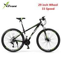 Новый бренд горный велосипед Алюминий сплава рама 29 дюймов колеса 33 Скорость велосипед Спорт на открытом воздухе MTB двойной дисковый тормоз