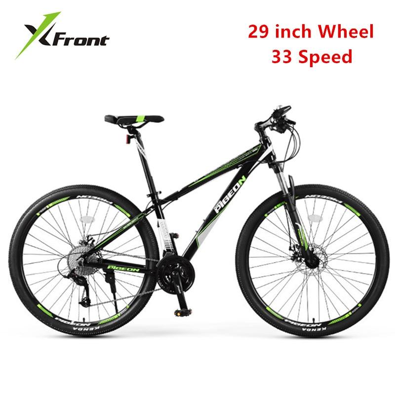New Brand Mountain Bike Aluminum Alloy Frame 29 Inch Wheel 33 Speed Bicycle Outdoor Sports MTB Dual Disc Brake Bicicleta