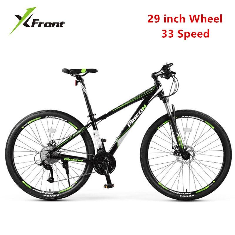 Nouvelle marque VTT cadre en alliage d'aluminium 29 pouces roue 33 vitesses vélo Sports de plein air vtt double frein à disque Bicicleta