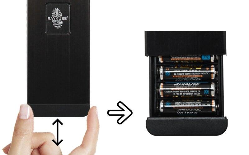 HTB1hiIvjtzJ8KJjSspkq6zF7VXaj RAYKUBE Biometric Fingerprint Door Lock Intelligent Electronic Lock Fingerprint Verification With Password & RFID Unlock R-FZ3