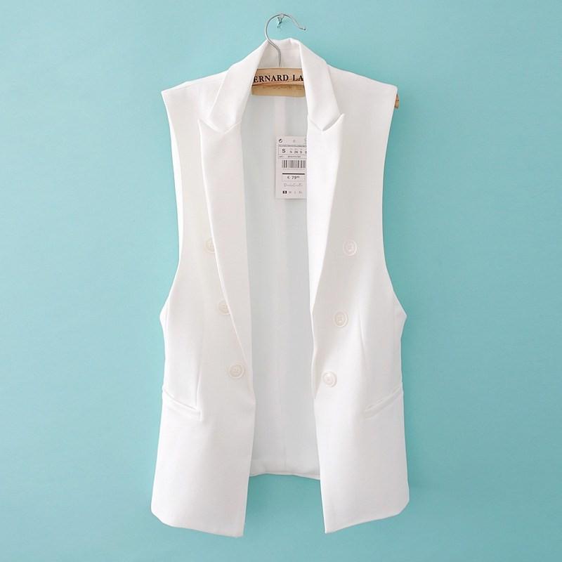 blazer vest outwear ow0114 white