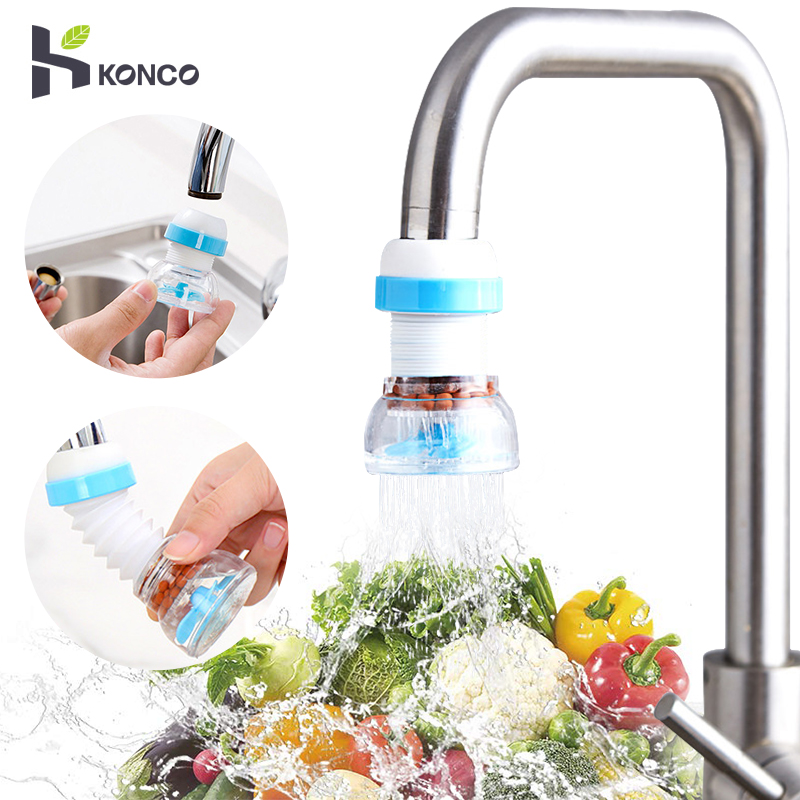 Konco Water Save Flexible Faucet Sprayer Turbo Flex 360 Sink Faucet Extenders  Faucet Sprayer Rotatable Kitchen Water Tap