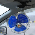 New Mini Electric Low Noise 8 Inch 12V 25W Portable Vehicle Auto Car Oscillating Car Auto Fan Air Cooling Fan