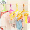 Wind card buckle hangers Multi-functional plastic candy color clothes-horse socks small clothes drying rack