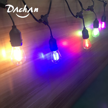 led commercial string 2w backyard outdoor street lighting lights holiday bulb grade string edison garden 10pcs with patio 10m IP65 15M Commercial Grade LED String Lights S14 LED Color Edison Filament Bulb AU Connectable Holiday Wedding Lighting Garland