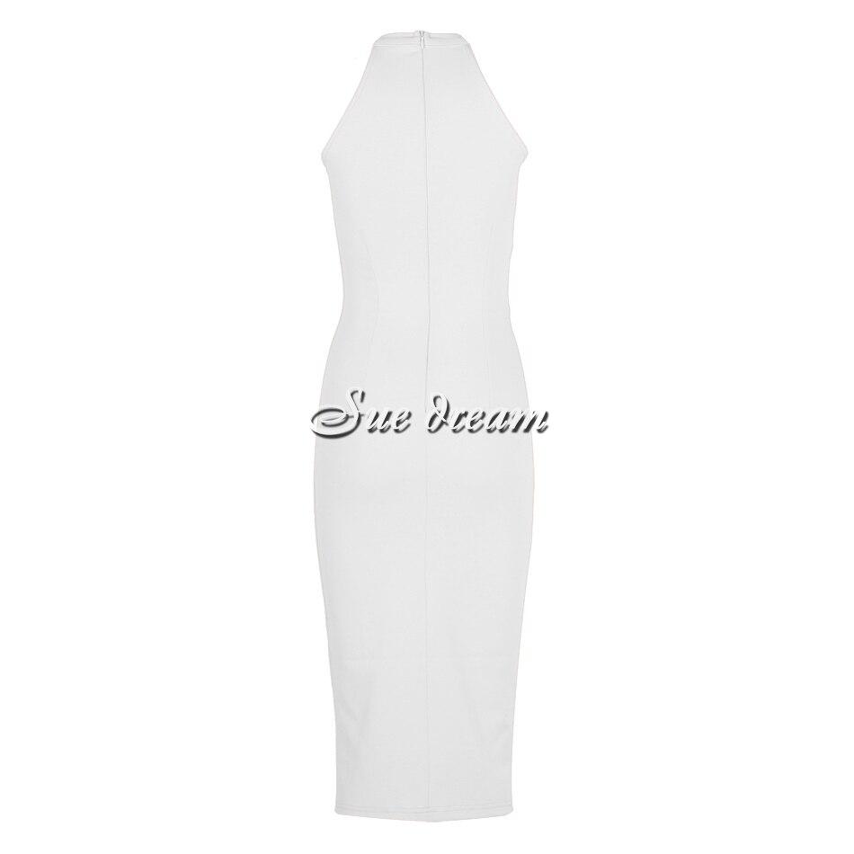 Kim Kardashian Bodycon Dress Sexy High Neck Sleeveless Off Shoulder - kim-kardashian-outfits-dresses