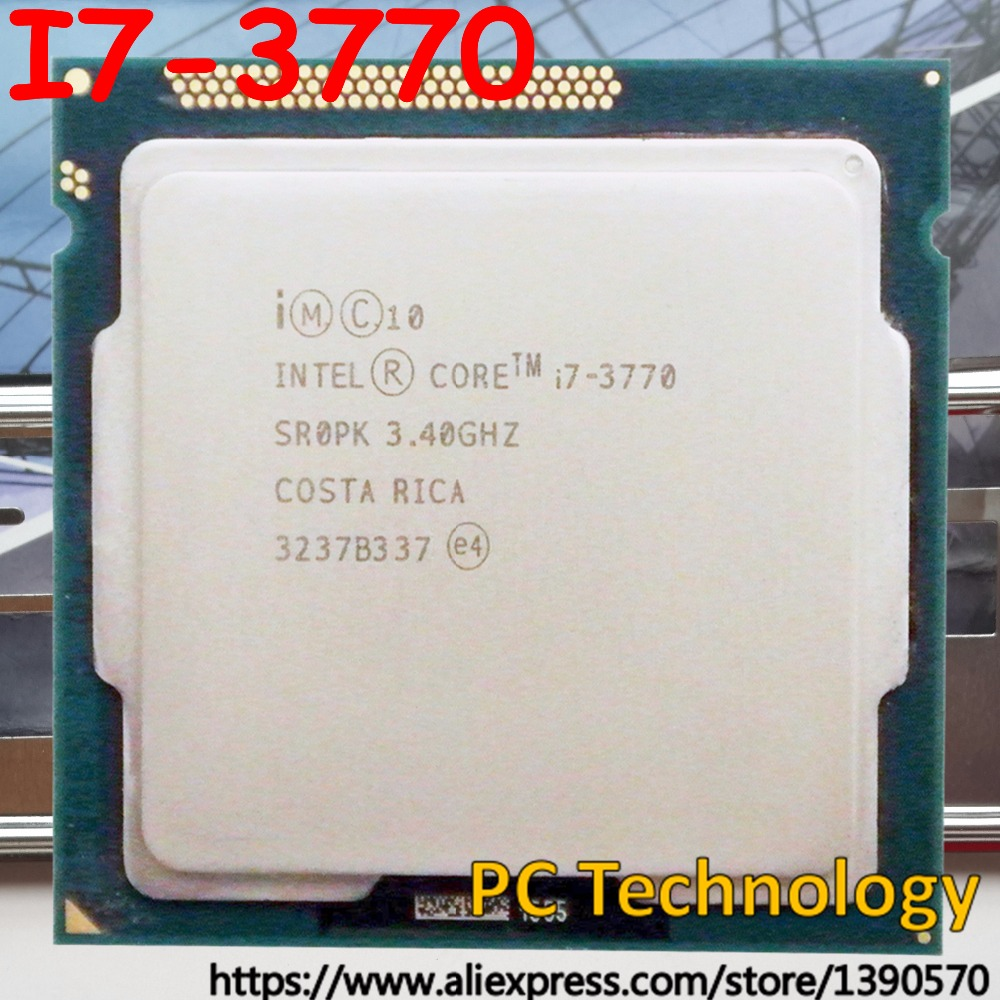 Original Intel processor I7 3770 8M Cache 3 40GHz Quad core LGA1155 77W desktop I7 3770