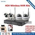 SNO Plug & Play 720 P 960 P HD 2 шт. Пуля 2 шт. Купола WI-FI беспроводная Ip-камера NVR Система P2P Onvif ВИДЕОНАБЛЮДЕНИЯ Открытый Видеонаблюдения система