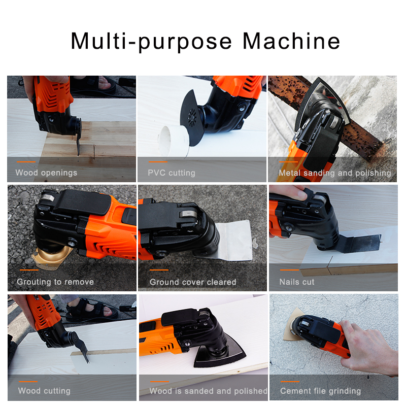 Image 5 - LOMVUM 300W Power Renovator Cordless Oscillating Woodworking Tools DIY Home Variable Speed Multi Cutter Electric Trimmer Blade-in Oscillating Multi-Tools from Tools